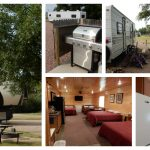 Collage of scenes from D&S Campground in Akaska SD