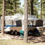 Pop-up trailer camping at American Buffalo Resort in Rapid City South Dakota